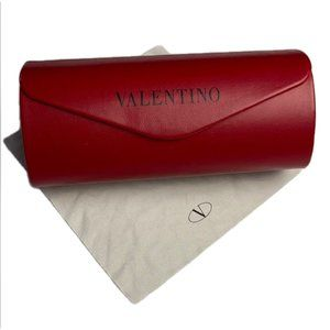 Valentino Sunglass Case Red Leather Magnetic Close